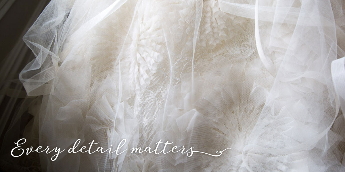 Designer Bridal Gown Detail